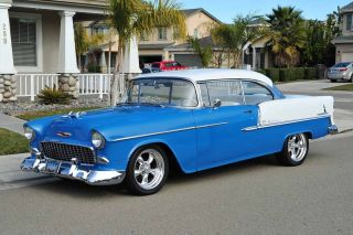 1955 Chevy Belair 350 4sp Paint&int Pdiscb California Show & Drive photo