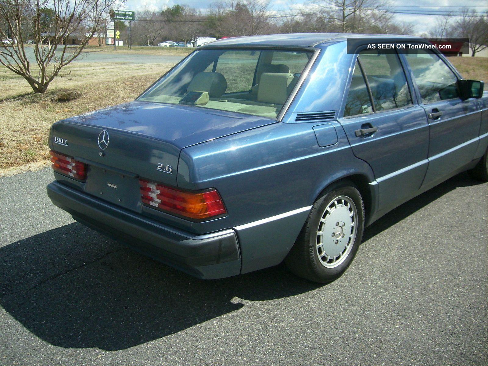 1993 Mercedes Benz 190e 2 6 Sedan 4 Door 2 6l