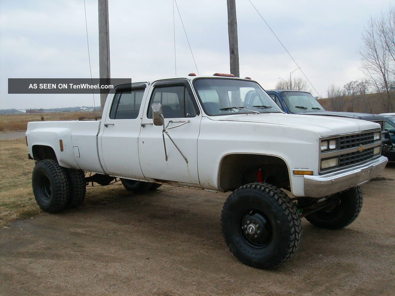 Huge 1977 Lifted 1 Ton Chevy Crew Cab Dually 4x4 Long Box C/K Pickup 3500 photo
