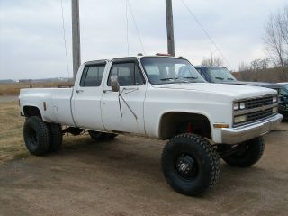 Huge 1977 Lifted 1 Ton Chevy Crew Cab Dually 4x4 Long Box photo