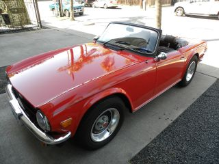 1976 Pimento Red Triumph Tr6 photo