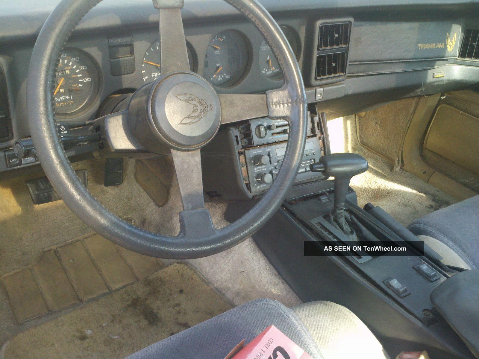 1985 firebird interior 1985 pontiac firebird trans am