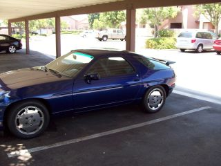 1987 Cobalt Blue Porsche 928, ,  Shark Body Style With Moon Roof photo