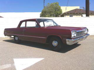1964 Biscayne 2 Door Sedan Stock Gasser Sleeper Impala Belair 409 Clone photo