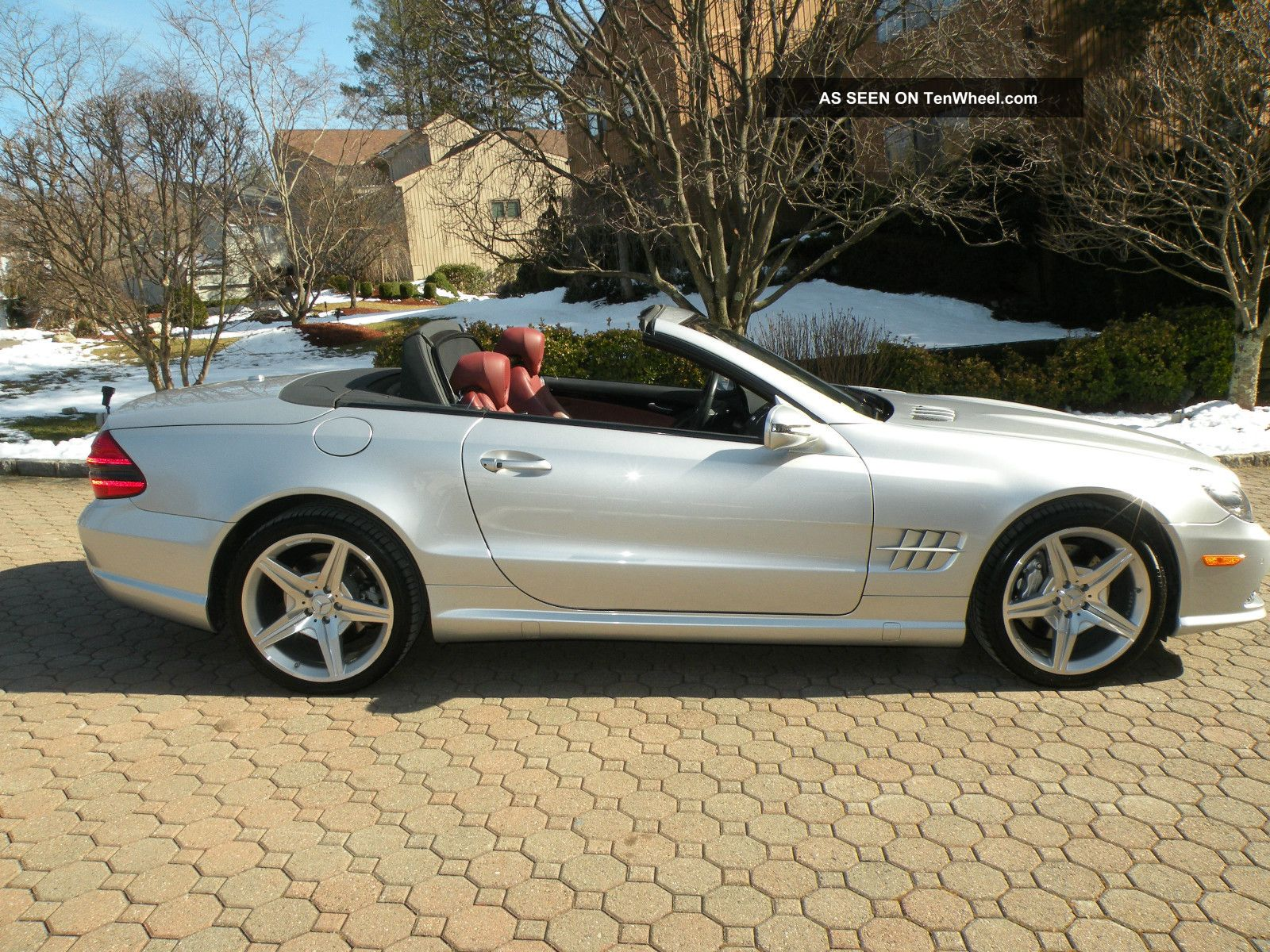 2009 mercedes benz sl550 convertible 5 5l silver arrow for Mercedes benz silver