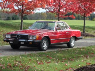 1985 Mercedes Benz 380sl Red - Immaculate & Spotless - photo