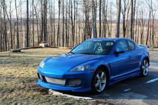 2004 Blue Mazda Rx - 8 Grand Touring Coupe - 1.  3l - Velocity Body Kit - Led ' S photo