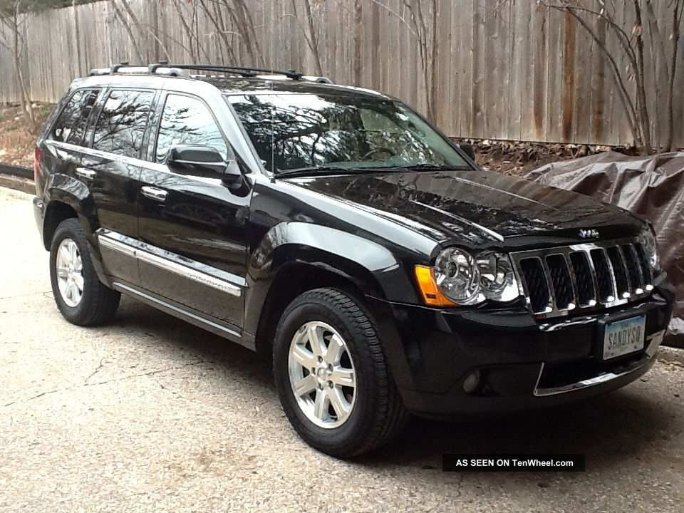 2008 jeep grand cherokee overland sport utility 4 door 5 7l hemi 54k mi black. Black Bedroom Furniture Sets. Home Design Ideas