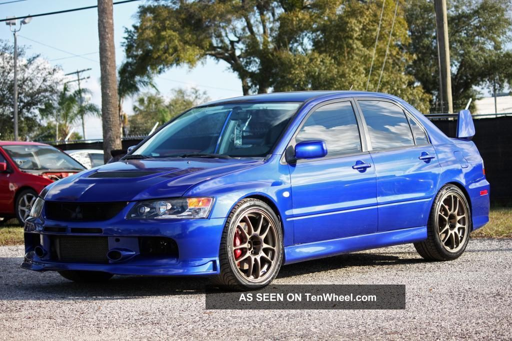 mitsubishi lancer evolution  gsr blue  works hks