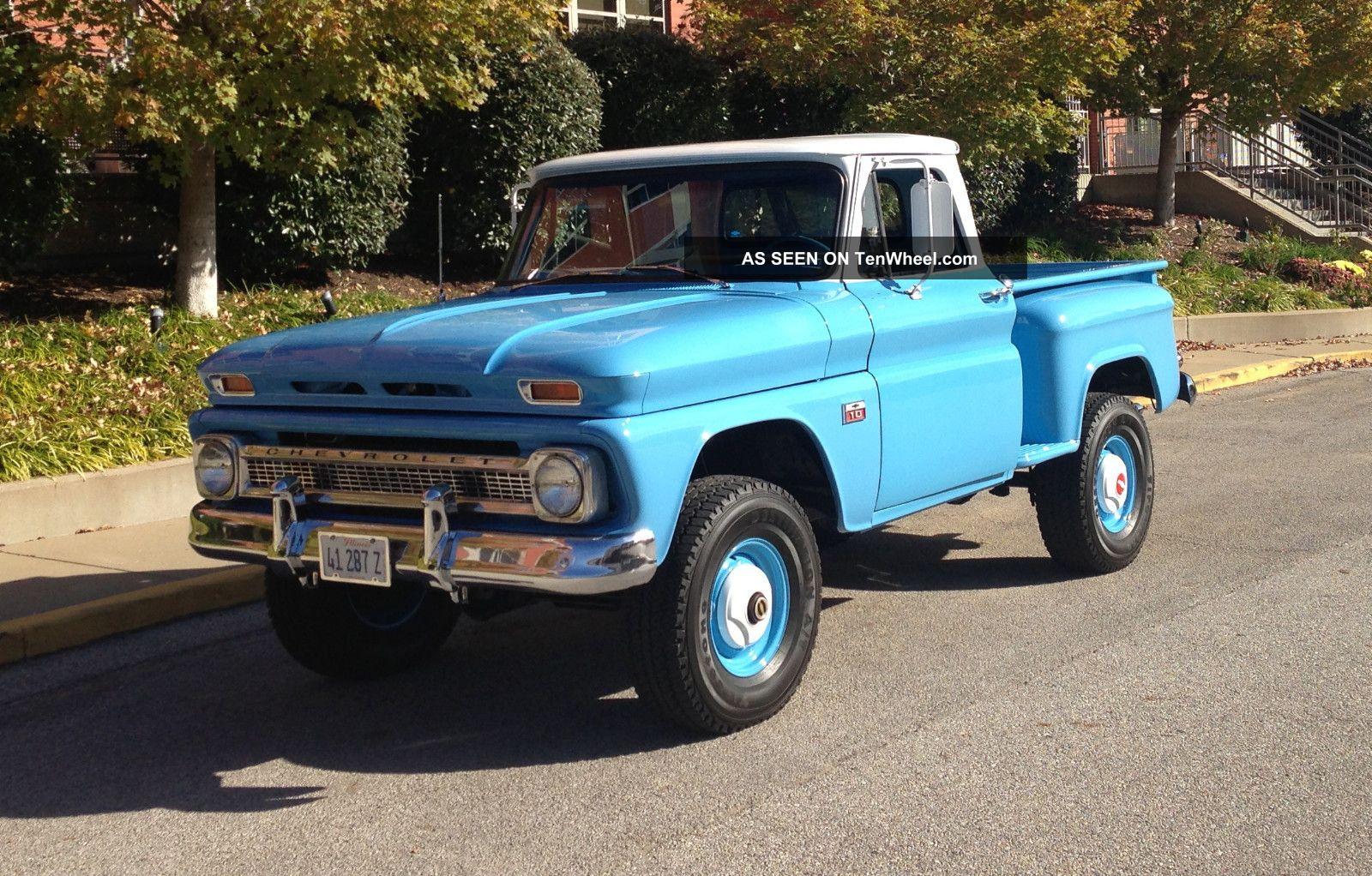 1966 chevrolet c10 factory 4x4 truck. Black Bedroom Furniture Sets. Home Design Ideas