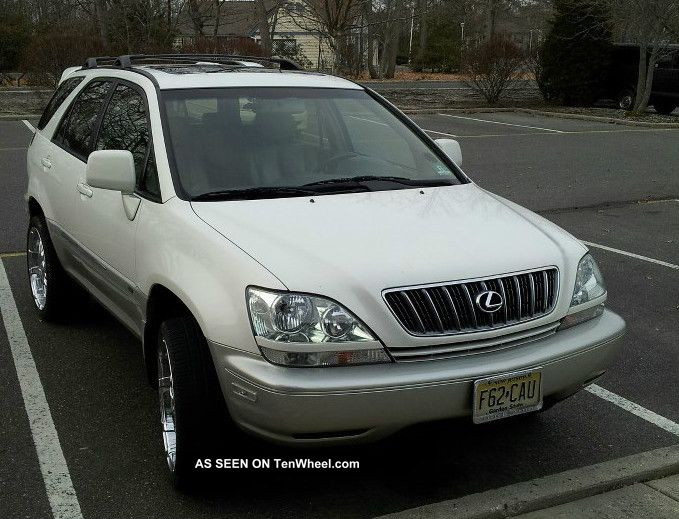 2001 lexus rx300 rx 300 truck pearl white w add ons 20. Black Bedroom Furniture Sets. Home Design Ideas