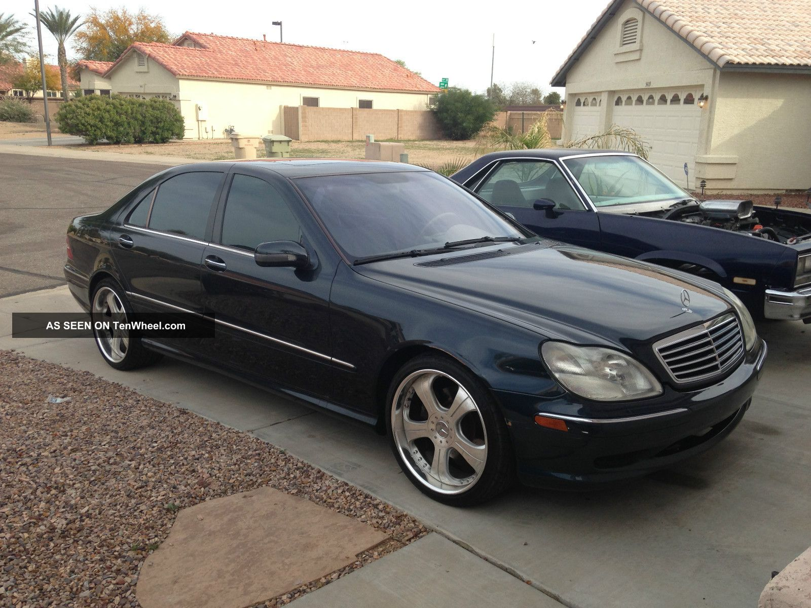 2001 Mercedes Benz S500 Cobalt Blue 2 Piece Custom Wheels