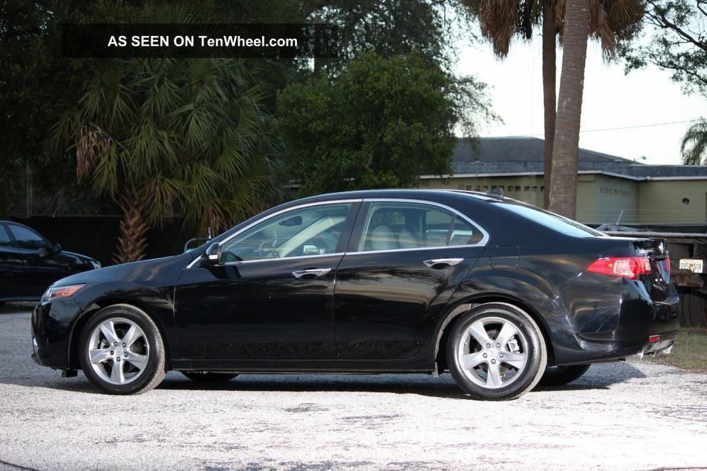2011 Acura Tsx Technology Package Sedan Black 19k