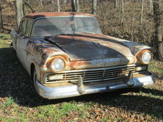 1957 Ford Custom 4 Door Hardtop 3 Speed Manual Project photo