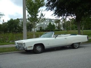 1971 Cadillac Deville Convertible Triple White Priced To Sell photo