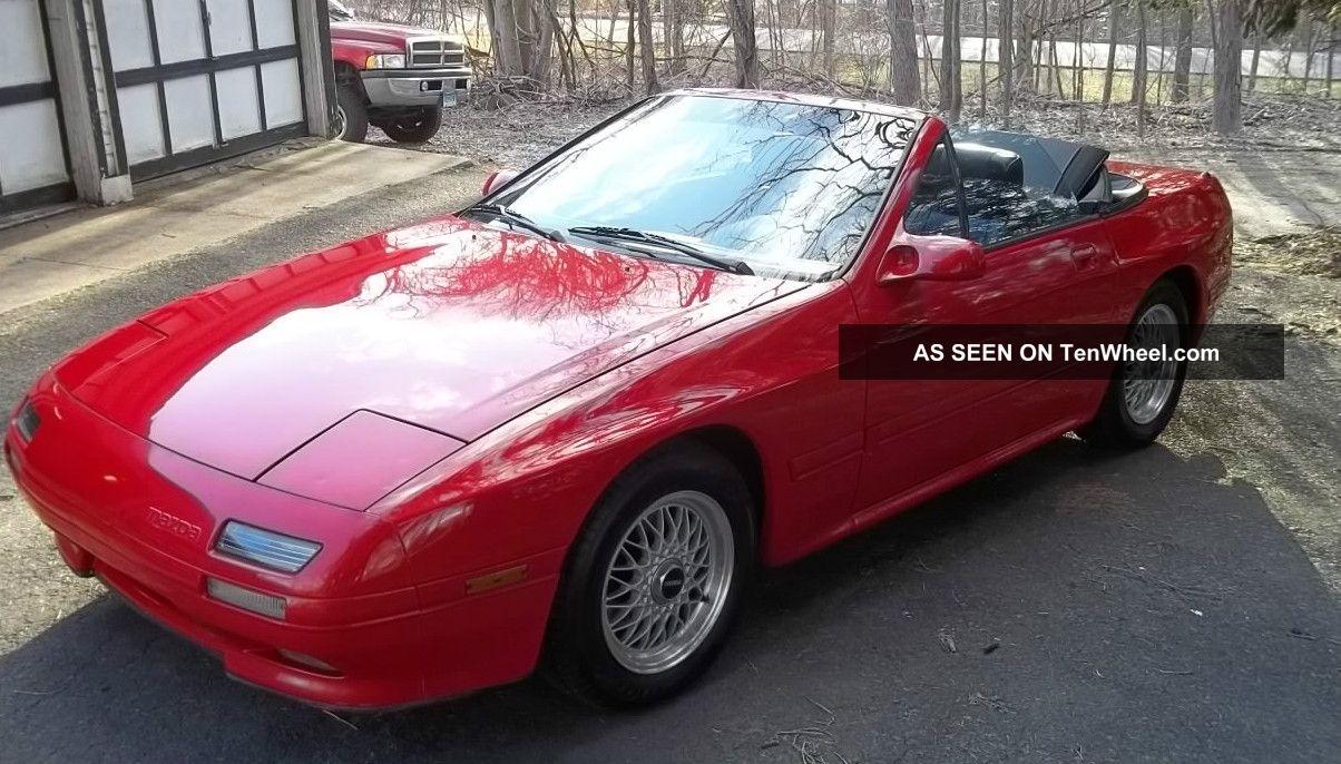 Mazda Rx7 Rx - 7,  1990,  13b,  Manual 5 Spd,  Red / Black,  Convertible RX-7 photo