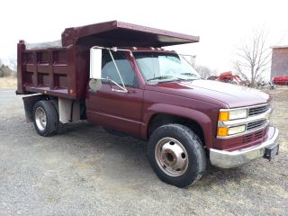2000 Chevrolet 3500 Dually 1 Ton Pto Deisel Dump Truck Manual Turbo Diesel photo