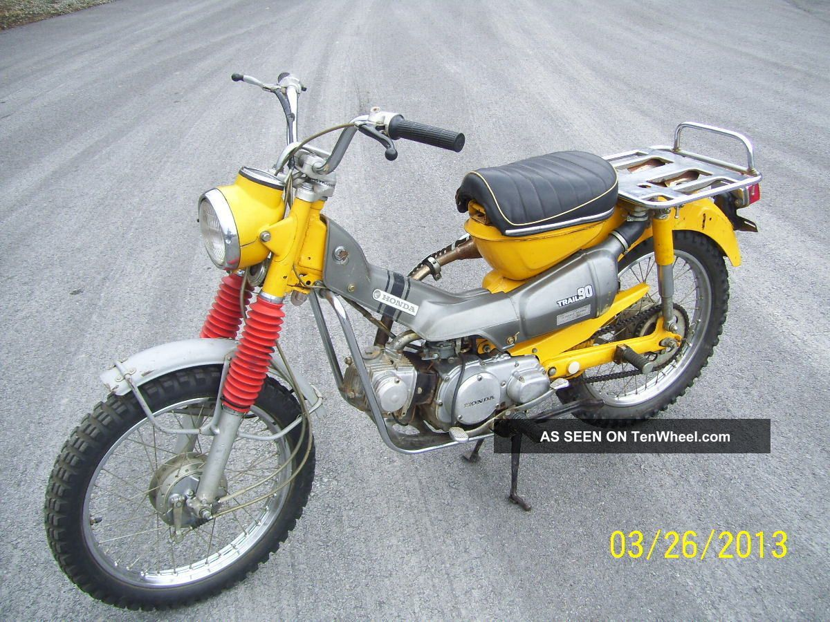Vintage 1970 Honda Ct90 Motorcycle All Runs Scooter Moped CT photo