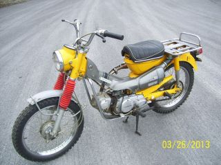 Vintage 1970 Honda Ct90 Motorcycle All Runs Scooter Moped photo