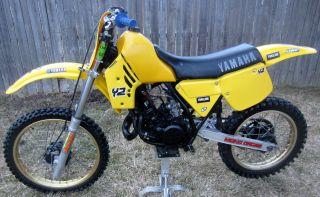 1984 Yamaha Yz125 Yz 125 Ahrma Vintage Motocross Dirt Bike All Stock Nr photo