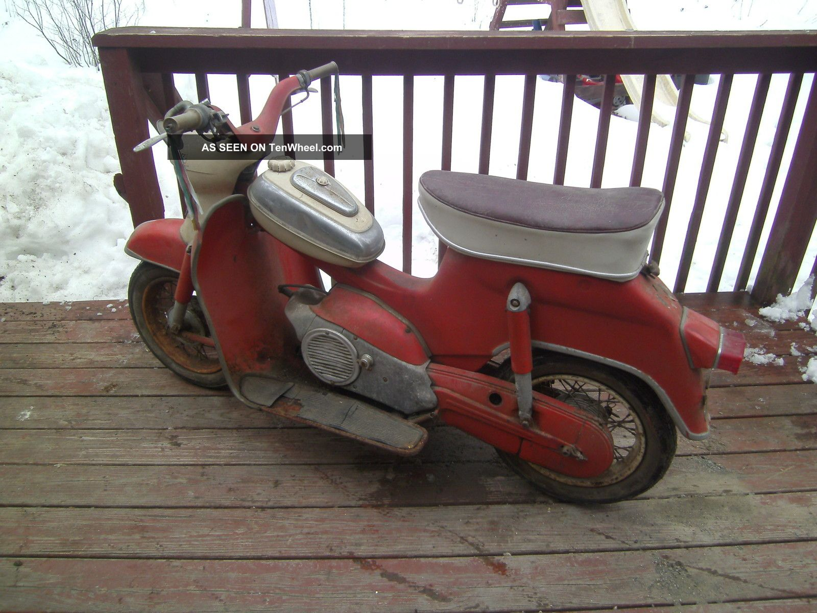 1957 Sears Puch Cycle 60 Cc Man Trans Scooter Rare Find Vintage Scooter 3 Speed Other Makes photo