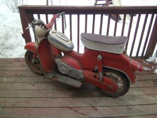 1957 Sears Puch Cycle 60 Cc Man Trans Scooter Rare Find Vintage Scooter 3 Speed photo