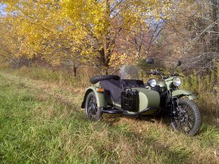 2012 Ural Gear Up 2wd Taiga Green Custom Color With Black Powertrain photo