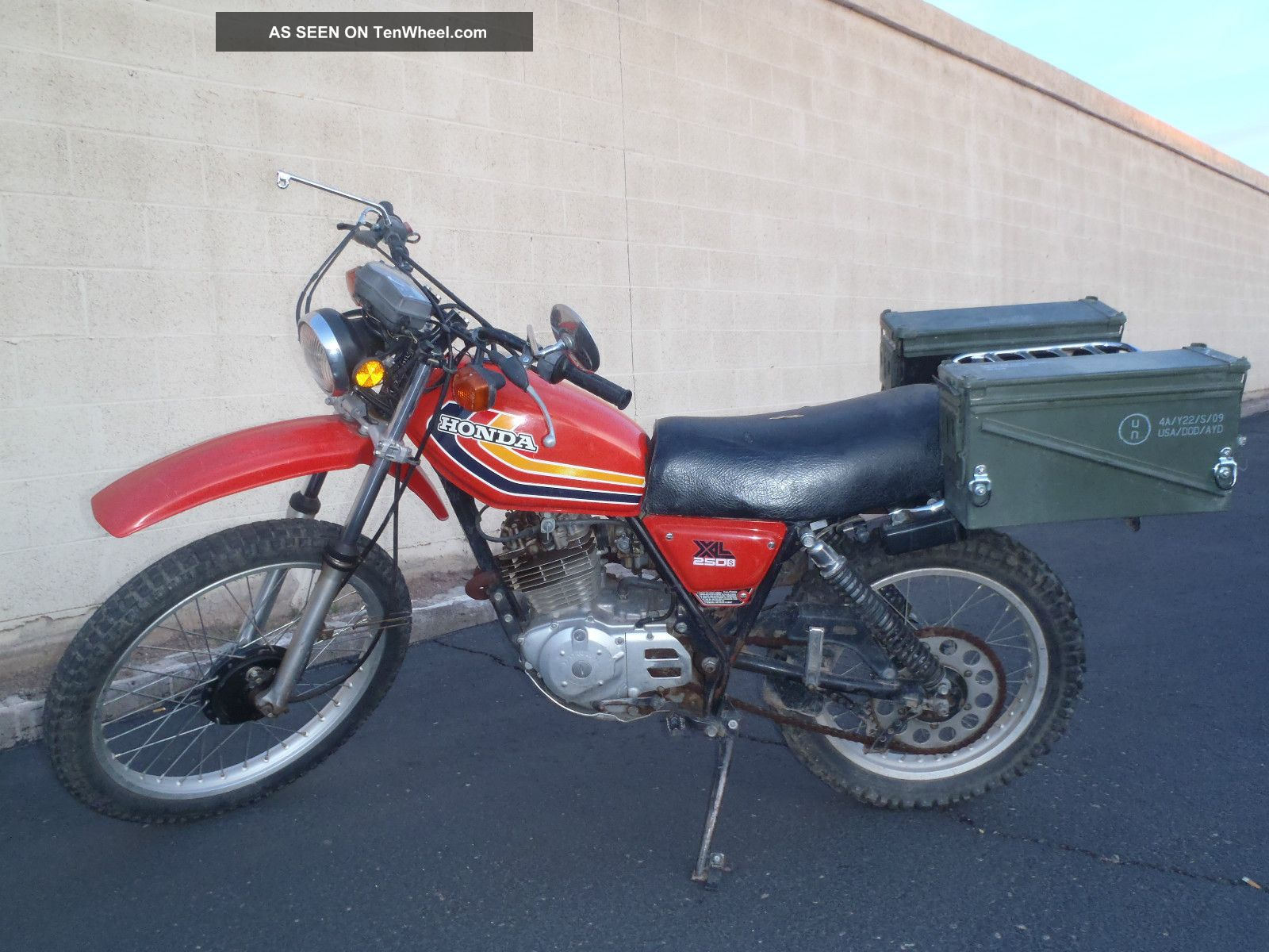 14554 1978 honda xl 250 s on benelli 250 four