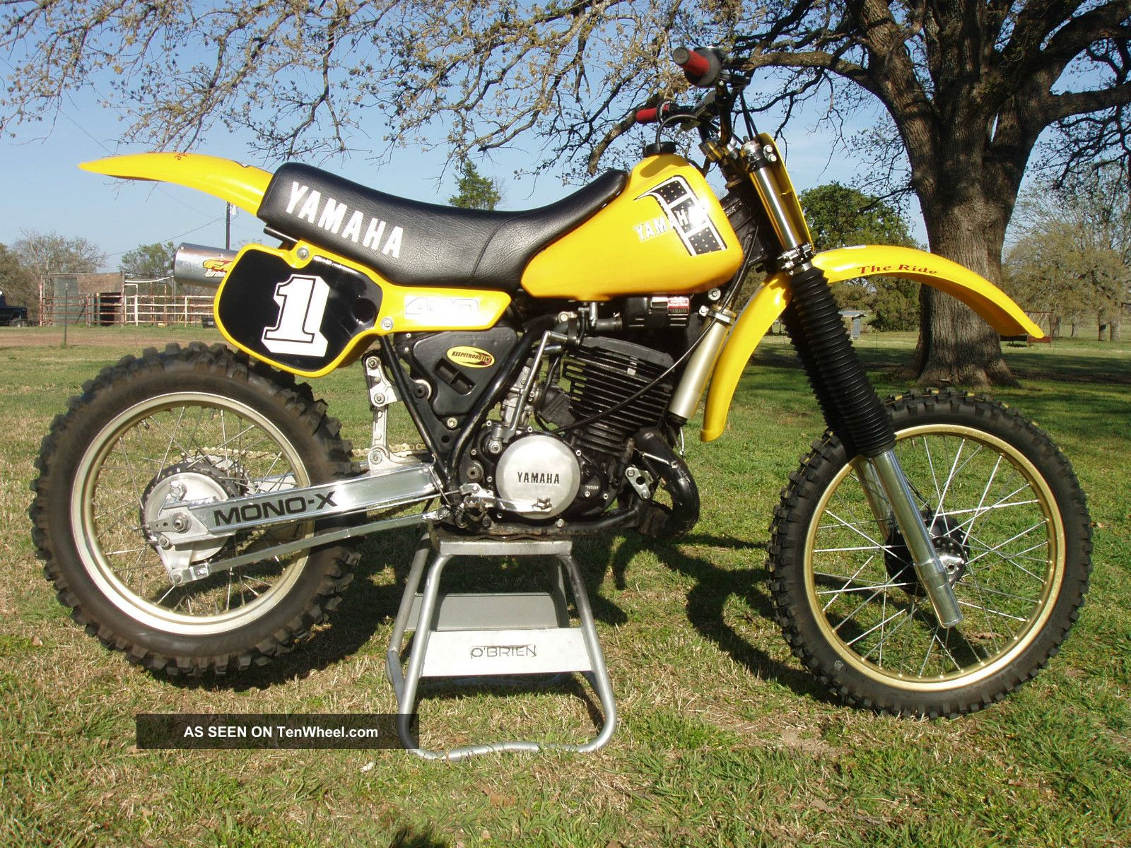 1982 Yz 490 Vintage Motocross Ahrma. .  Brock Glover YZ photo