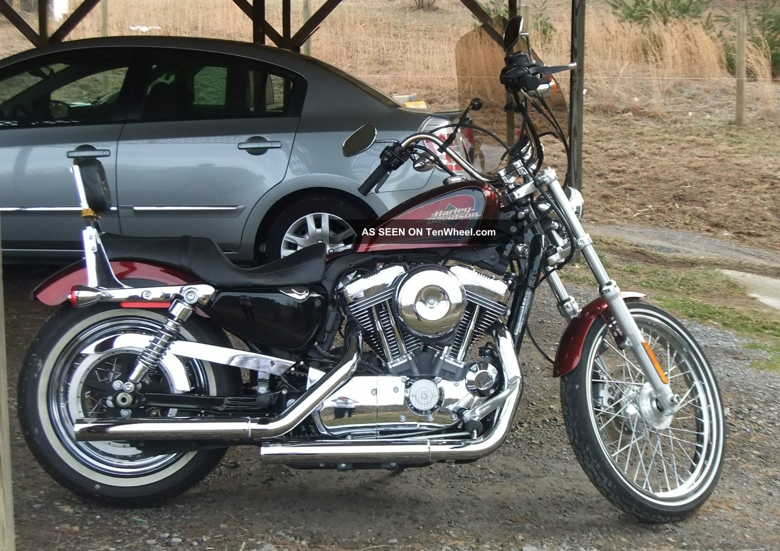 2012 Harley Davidson 1200l Custom With 72 On The Tank With Red Metal Flake Paint