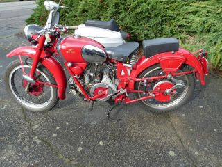 1950 Moto Guzzi Airone Sport Classic Vintage Motorcycle Italian Swap Meet Find photo