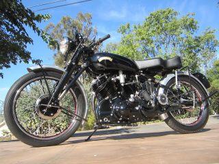 1954 Vincent Black Shadow Series C photo