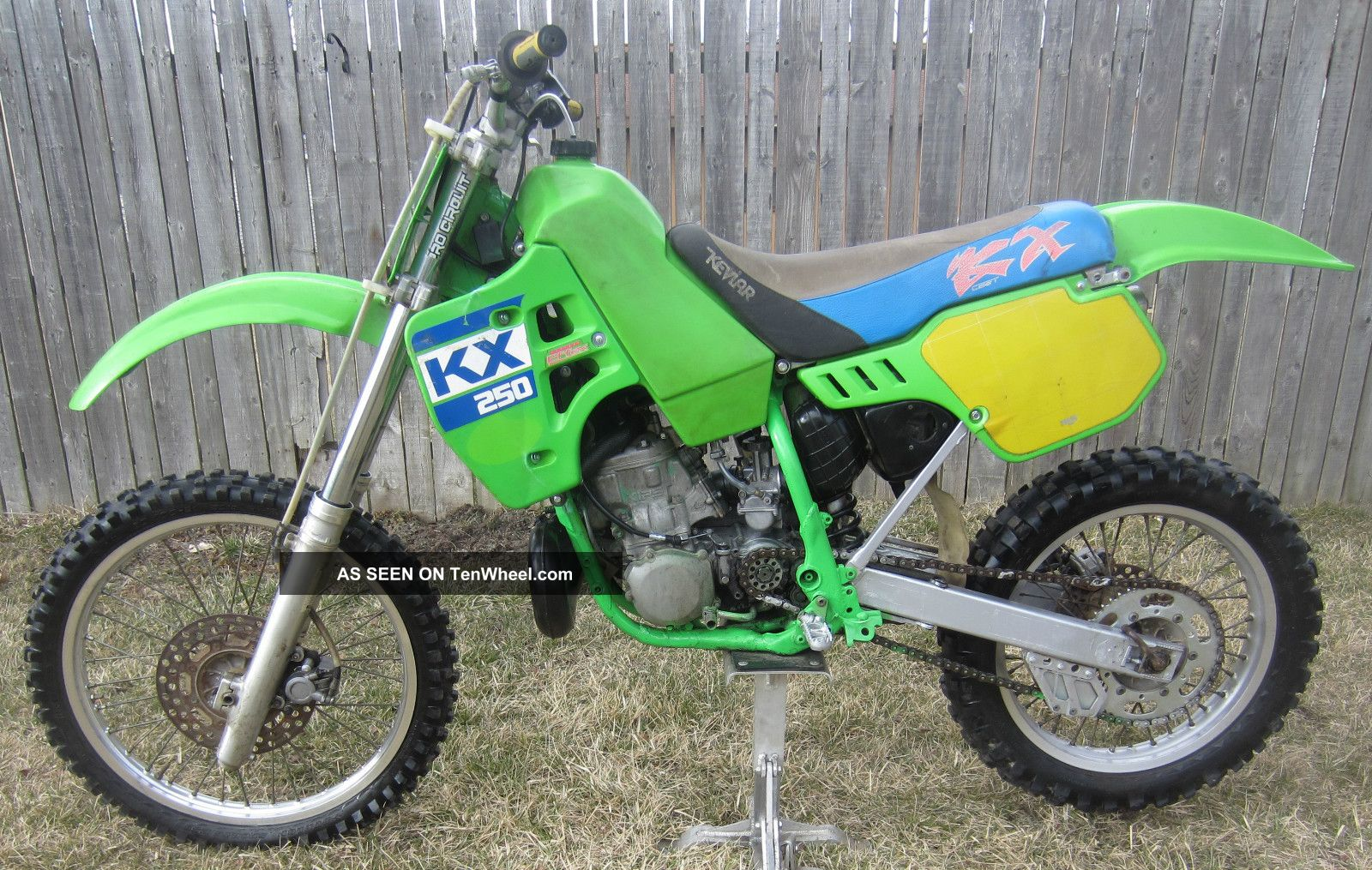 1988 kawasaki kx250 kx 250 motocross vintage dirt bike. Black Bedroom Furniture Sets. Home Design Ideas