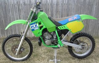 1988 Kawasaki Kx250 Kx 250 Motocross Vintage Dirt Bike photo