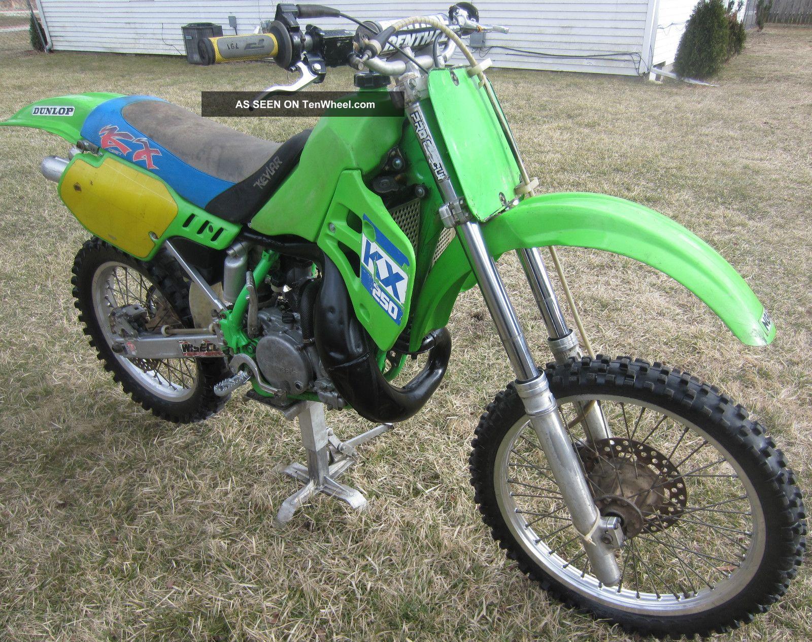 1988 Kawasaki Kx250 Kx 250 Motocross Vintage Dirt Bike KX Photo 8