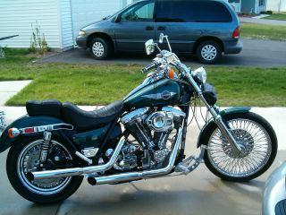 1986 Harley Davidson Low Rider Fxr Custom - Lots Of Chrome And photo