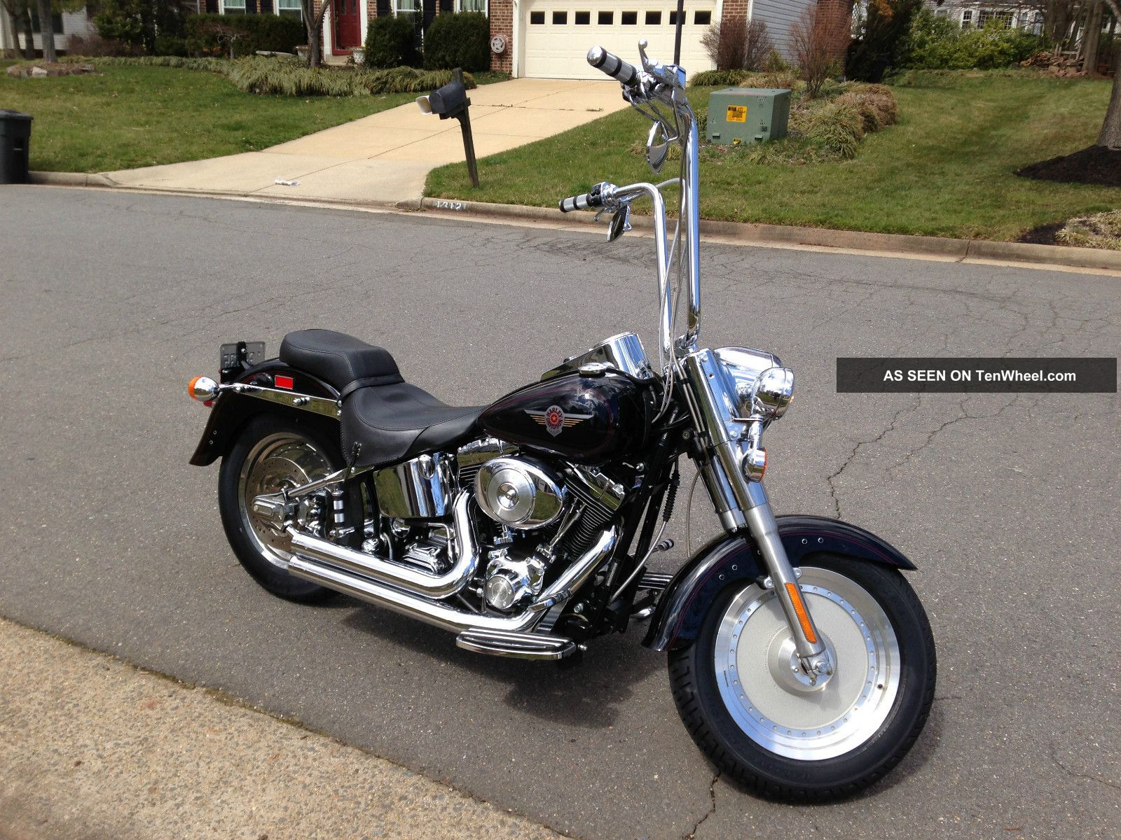 2000 Black Harley Davidson Fatboy Softail photo