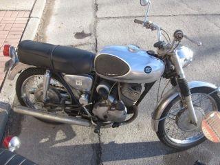 1966 Bridgestone 175 Dual Twin Vintage Bike Runs Very Well photo