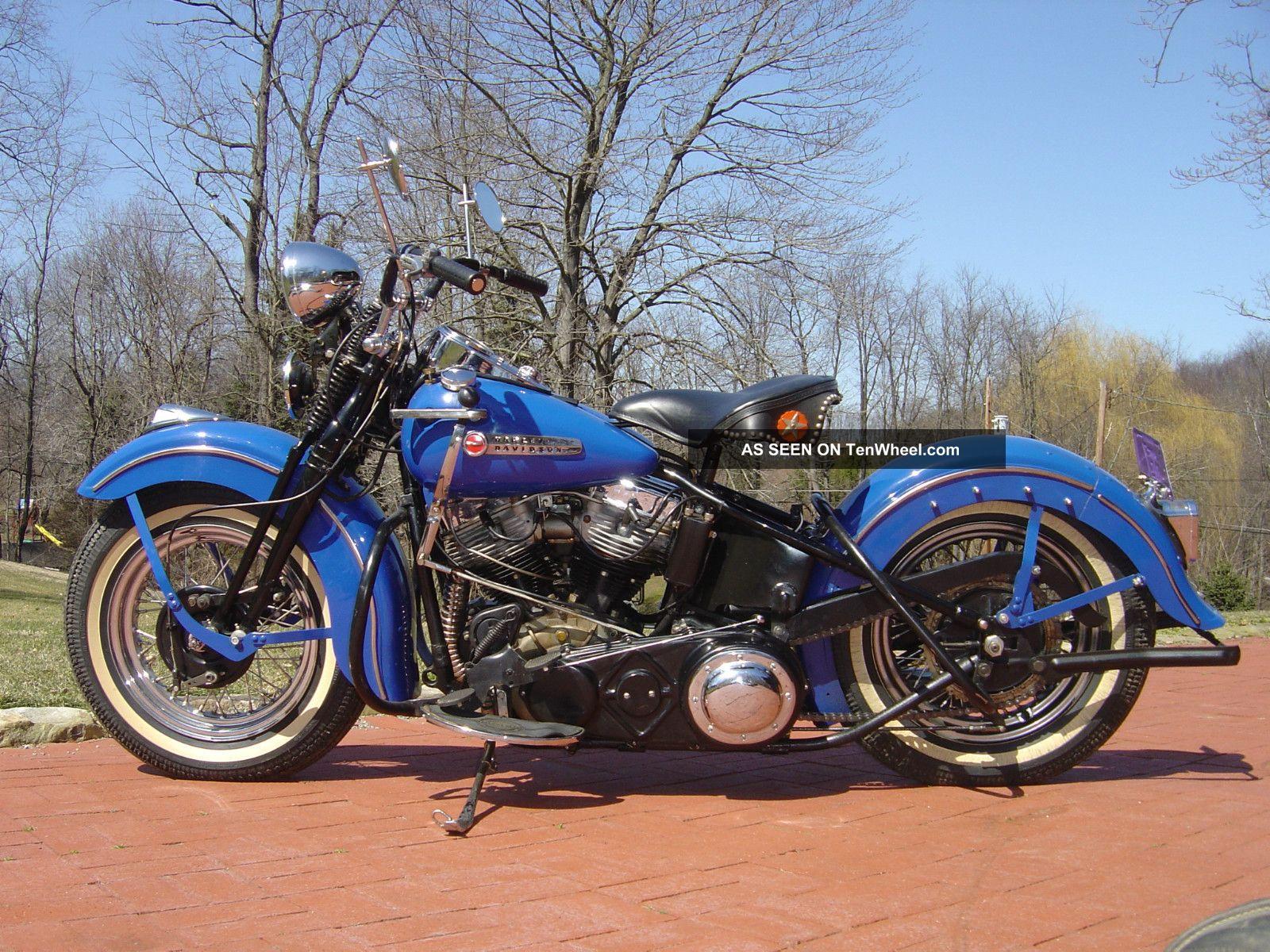 1948 Harley Davidson Fl Pan Head Matching Numbers Bike Other photo