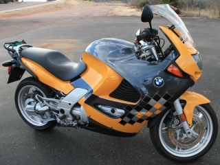 2001 Bmw K1200 Rs Graphite Metalic / Yellow 4 Cylinder Water Cooled Motorcycle photo