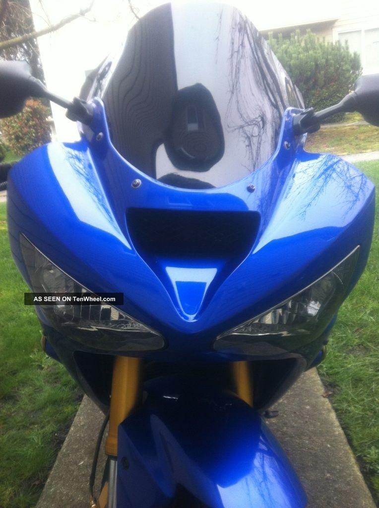2004 Kawasaki Ninja Zx6r 636 Motorcycle Metallic Blue And