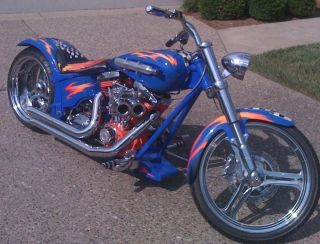 2010 lightning chopper motorcycle with nos 52k invested harley