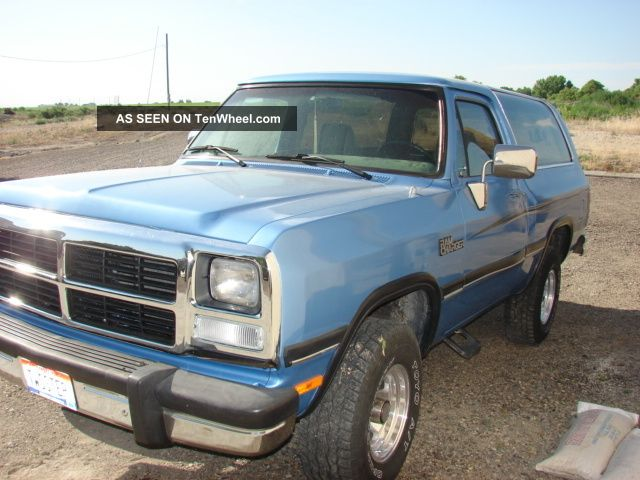 1991 dodge ramcharger royal le sport utility 2 door 5 9l. Cars Review. Best American Auto & Cars Review