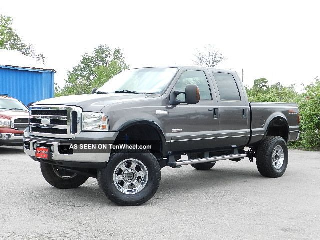 2006 ford f250 4x4 lifted lariat fx4 off road crew cab short bed turbo diesel. Black Bedroom Furniture Sets. Home Design Ideas