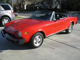 1978 Fiat 124 Spider 61k Interior 1800 Abarth Alfa photo