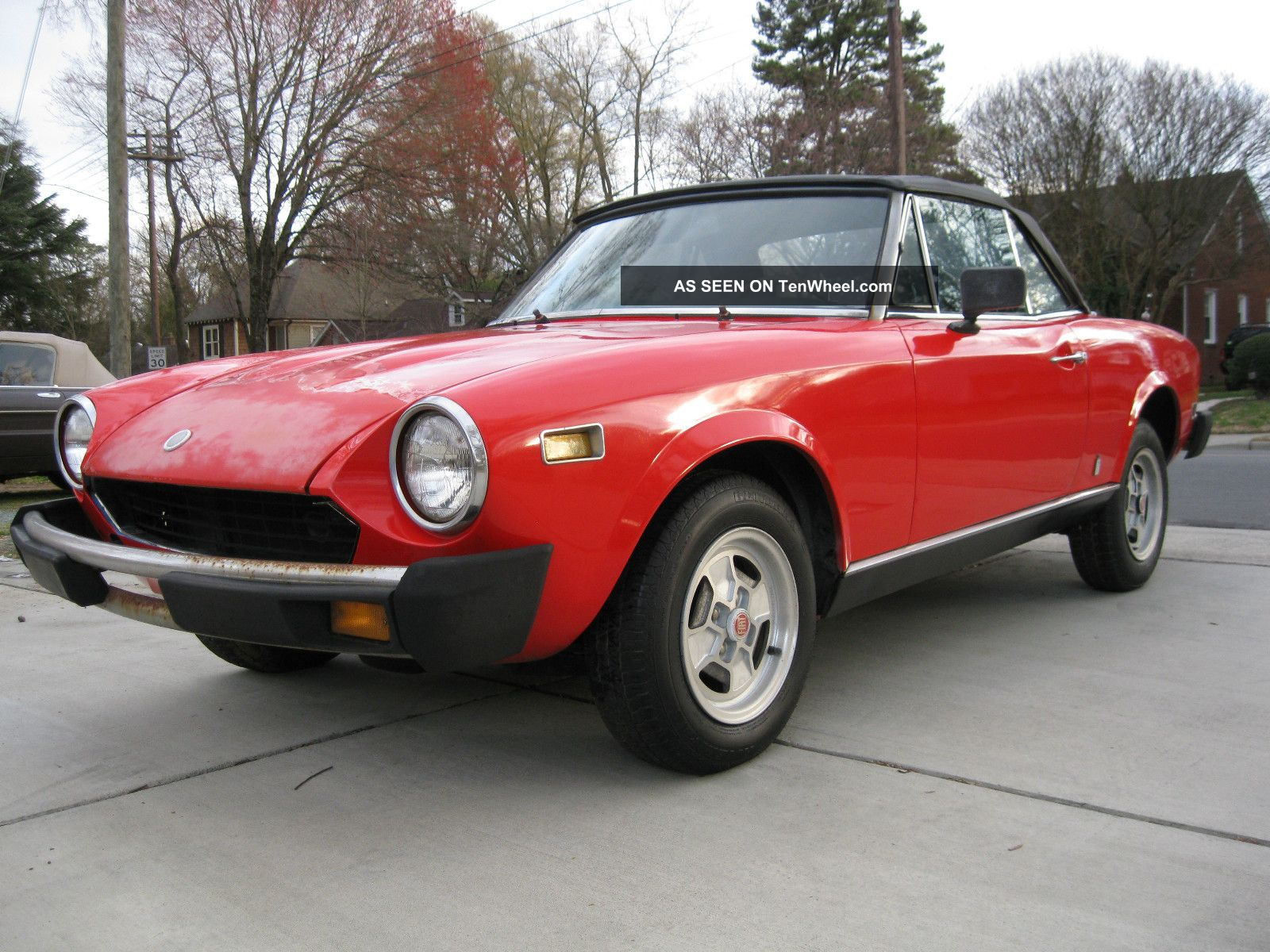 1978 fiat 124 spider 61k interior 1800 abarth alfa. Black Bedroom Furniture Sets. Home Design Ideas