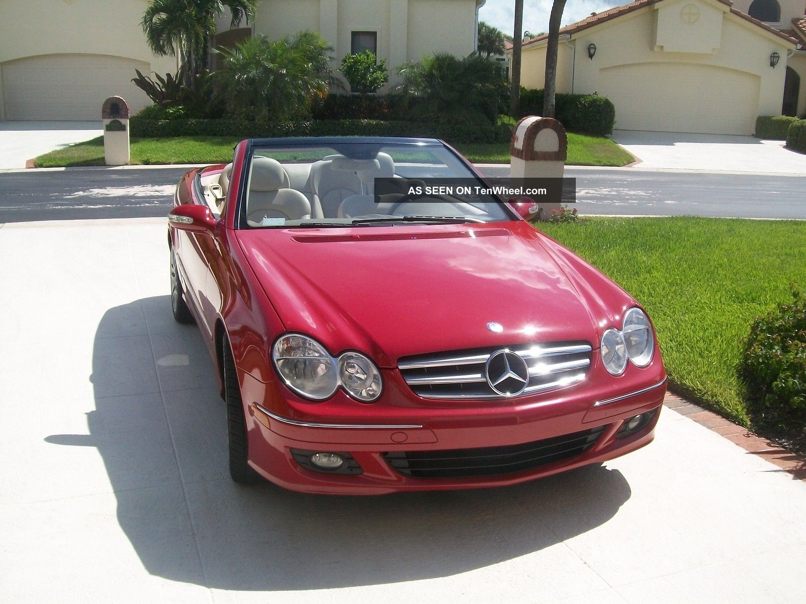 2008 mercedes benz clk 350 convertibl e mars red for 2008 mercedes benz clk350
