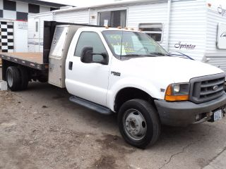 1999 Ford Superduty F550 Reg Cab Flat Bed 7.  3 Powerstroke Turbo Diesel 2wd Wow photo