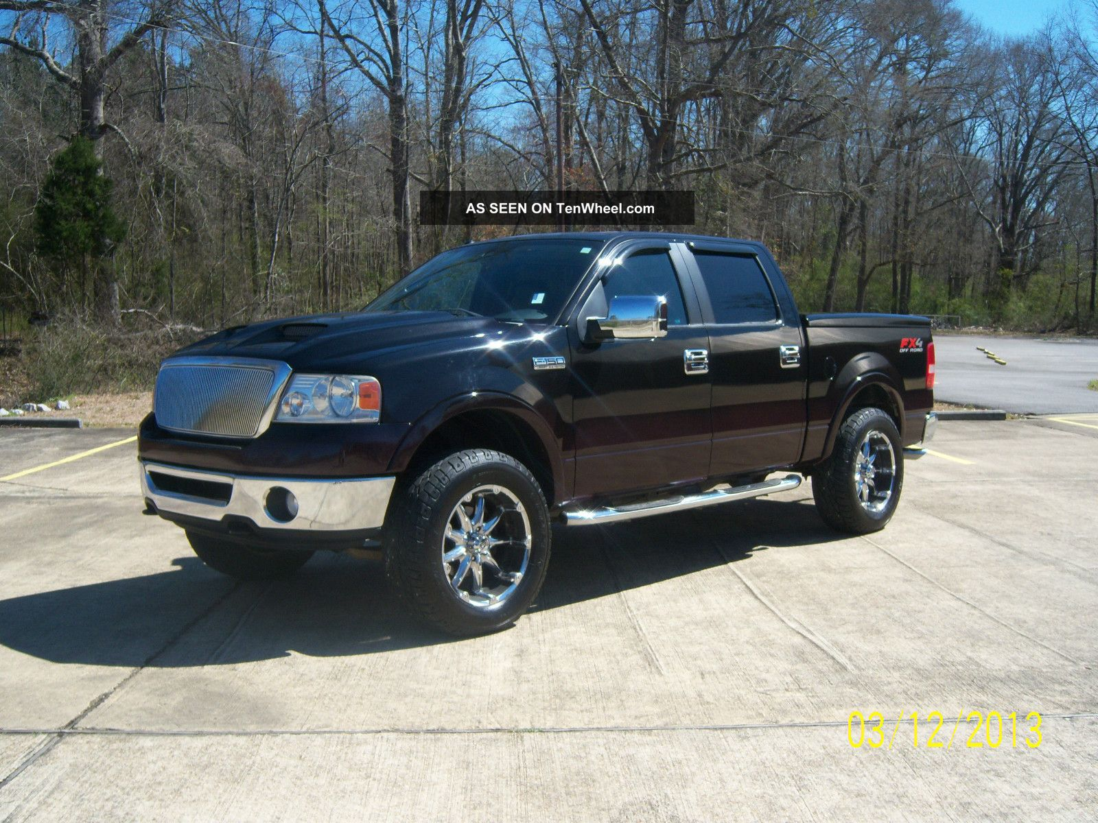 2008 ford f 150 lariat crew cab 4x4 pickup 4 door 5 4l. Black Bedroom Furniture Sets. Home Design Ideas