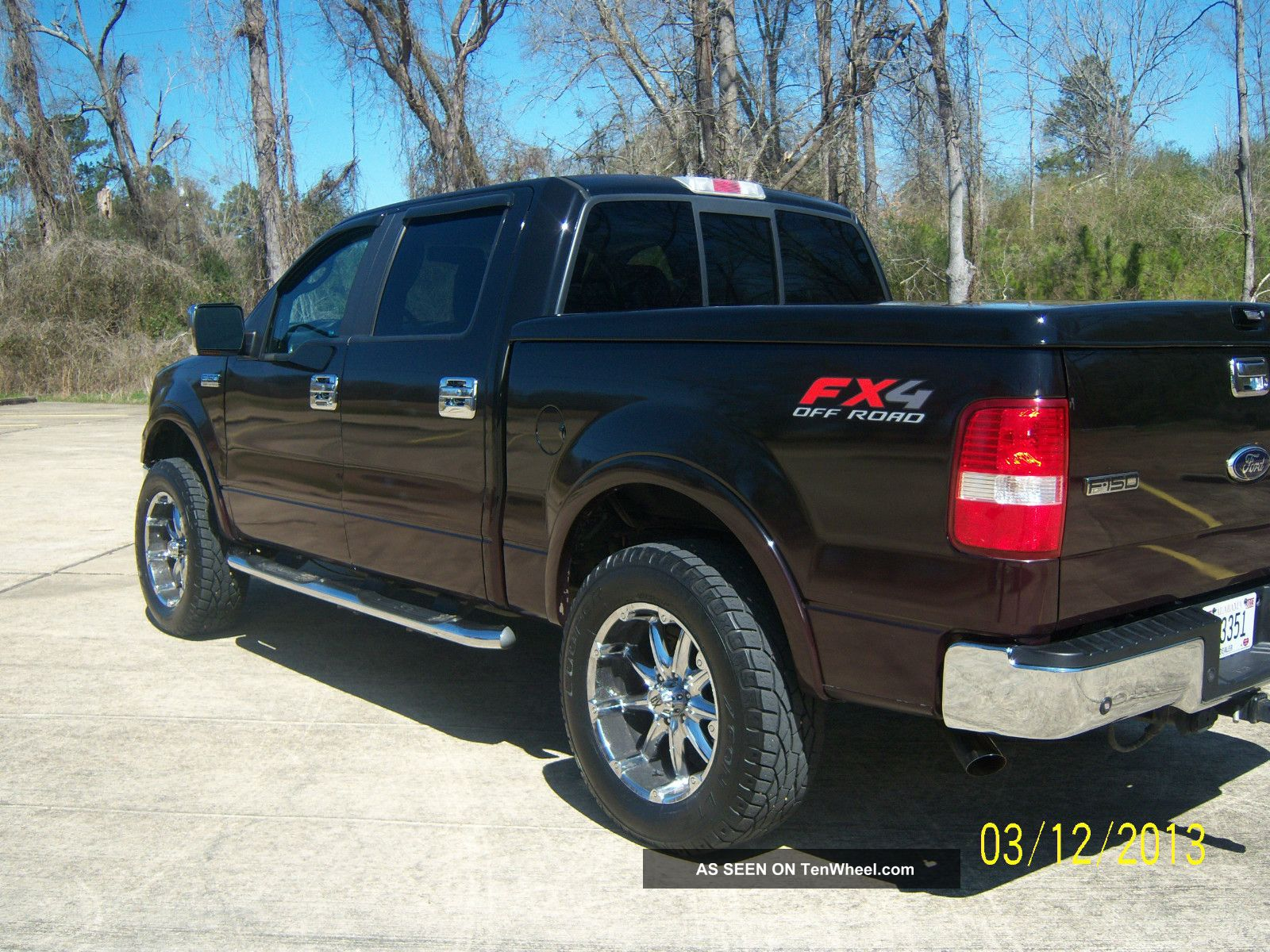 2008 ford f 150 lariat crew cab 4x4 pickup 4 door 5 4l. Black Bedroom Furniture Sets. Home Design Ideas